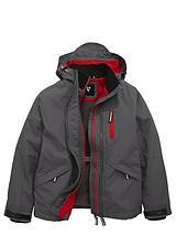 Boys Double Tech Zip Jacket with Fleece Lining