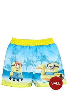 minions-boys-tropical-beach-board-shorts