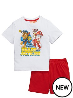paw-patrol-ready-action-shorty-pyjamas-white
