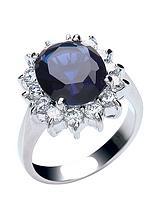 Rhodium Plated & Cubic Zirconia Royal Celebration Ring