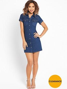 myleene-klass-denim-short-sleeved-shirt-dress