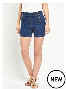 v-by-very-high-waisted-zip-front-denim-short