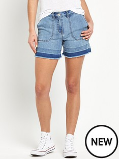 v-by-very-frayed-hem-denim-short
