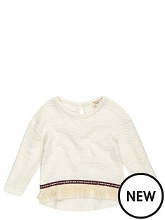 river-island-mini-mini-girls-cream-fringed-jumper