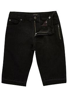 river-island-boys-black-raw-hem-denim-shorts