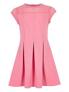 river-island-girls-lace-neck-skater-dress