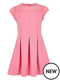 river-island-girls-pink-lace-neck-skater-dress