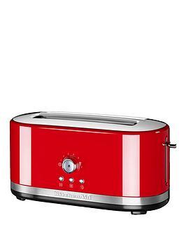 Kitchenaid 5Kmt4116Ber Long Slot Manual Control Toasted  Red