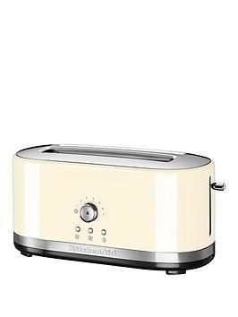 KitchenAid  Kitchenaid 5Kmt4116Bac Long Slot Toaster - Cream