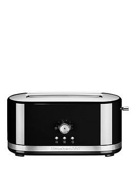 KitchenAid  Kitchenaid 5Kmt411Bob Long Slot Toaster - Black