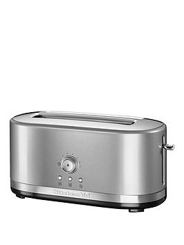 Kitchenaid 5Kmt4116Bcu Long Slot Toaster  Silver