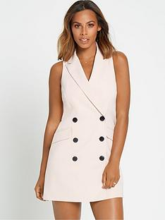 rochelle-humes-sleeveless-blazer-dress