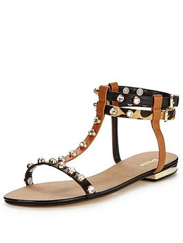 dune-nesseynbspstud-leather-sandalnbsp