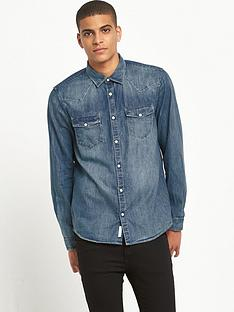 river-island-long-sleeved-western-denim-shirt