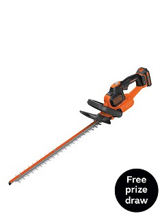 black-decker-gtc18452pc-gb-18v-hedgetrimmer-with-power-command-and-anti-jamnbspfree-prize-draw-entry