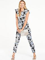 Printed Slim Leg Jumpsuit