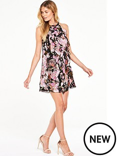 v-by-very-printed-ruffle-halterneck-dress