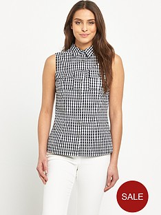 v-by-very-sleeveless-gingham-shirt