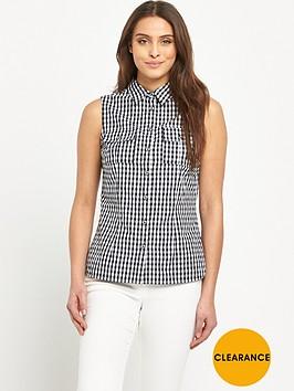v-by-very-sleeveless-gingham-shirt
