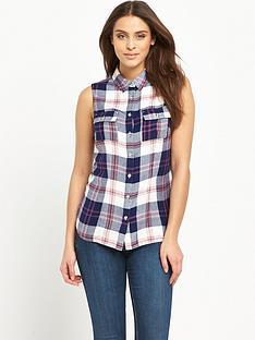 v-by-very-sleeveless-check-shirt