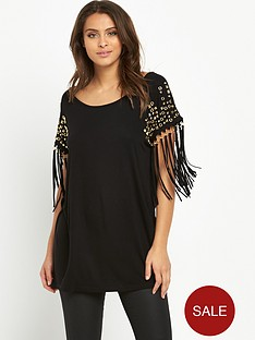 v-by-very-embellished-fringed-jersey-tunic