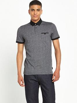 ted-baker-herringbonenbsppolo-shirt