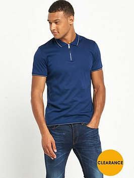 ted-baker-zip-neck-polo-shirt