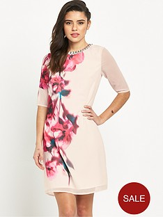 little-mistress-printed-short-sleeve-dress