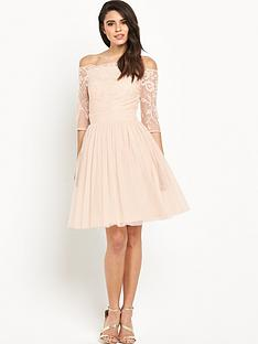little-mistress-bardot-neck-lace-skater-dressnbsp