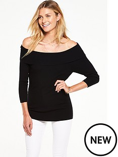 v-by-very-ribbed-34-sleeve-bardot-jumper