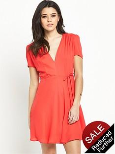 glamorous-tie-front-dress
