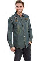 Joe Browns customised denim shirt