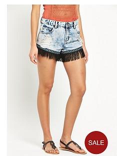glamorous-tassel-denim-shorts