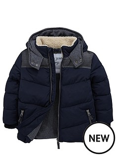 mini-v-by-very-toddler-boys-borg-collar-navy-padded-coat-with-hood