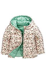 Girls Floral and Plain Reversible Coat