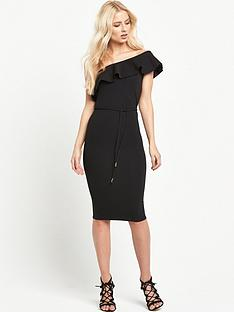 river-island-one-shoulder-ruffle-bodycon-dress