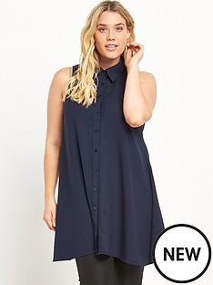 alice-you-embroidered-oversized-sleeveless-shirt