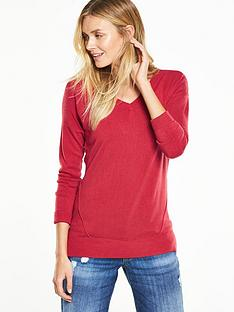 v-by-very-supersoft-v-neck-seam-detail-jumpernbsp