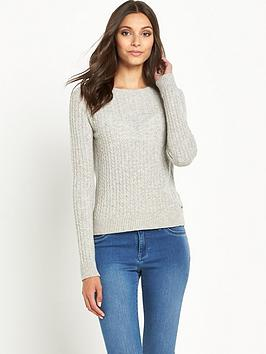 superdry-croyde-luxe-mini-cable-knit-grey-marl