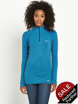 berghaus-thermal-long-sleeve-zip-baselayer-blue