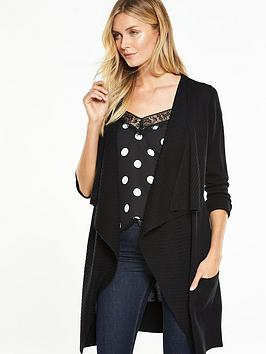v-by-very-ribbed-drape-front-edge-to-edge-cardigan