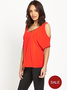v-by-very-chain-detail-cold-shoulder-top