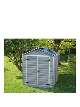 palram-6x5-ft-double-door-skylight-shed-anthracite