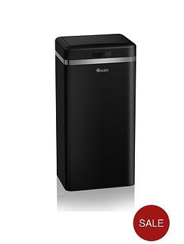 swan-retro-45-litre-square-sensor-bin-in-black