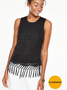 v-by-very-lace-fringed-sleeveless-top