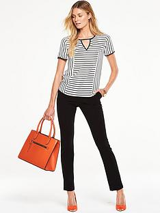 v-by-very-striped-short-sleeved-top-with-cut-out-front