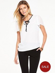 v-by-very-pleated-sleeve-blouse-with-tie-neck-detail
