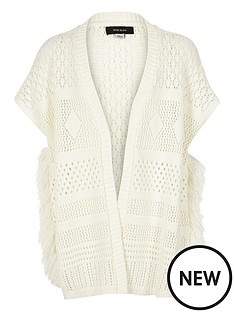 river-island-girls-fringed-poncho-cardigan