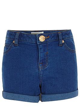 river-island-girls-bright-blue-denim-shorts