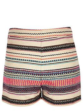 river-island-girls-pink-jacquard-shorts
